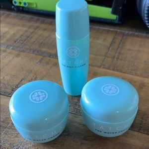 Tatcha Water cream and Deep cleanser